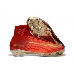 Nike Nuova Scarpe da Calcio Mercurial Superfly V FG Uomo - Rosso Oro