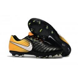 Scarpe da Calcio Nuovo Nike Tiempo Legend VII FG ACC - Nero Giallo