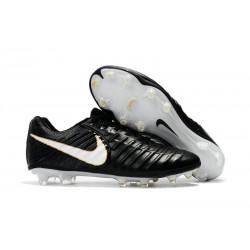 Scarpe da Calcio Nuovo Nike Tiempo Legend VII FG ACC - Nero Bianco