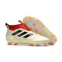 Scarpe da Calcio Adidas ACE 17+ Pure Control FG Uomo - Bianco Nero Rosso