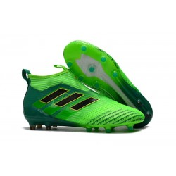 Scarpe da Calcio Adidas ACE 17+ Pure Control FG Uomo - Verde Nero