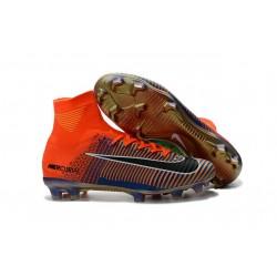 Nike Mercurial Superfly V FG Scarpa Da Calcio Per Terreni Duri - Arancio Verde Nero