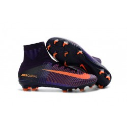 Scarpe Nike Mercurial Superfly V FG Dynamic Fit - Viola Arancio