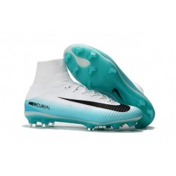 Nike Mercurial Superfly V Dynamic Fit FG Scarpe Da Calcetto - Bianco Nero Blu