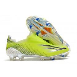 adidas Scarpe Calcio X Ghosted + FG Giallo Solare Nero Core