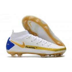 Nike Phantom GT Elite DF FG Scarpe Bianco Oro Blu