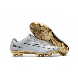 Ronaldo Nike Mercurial Vapor XI CR7 FG - scarpa da calcio - Bianco Oro