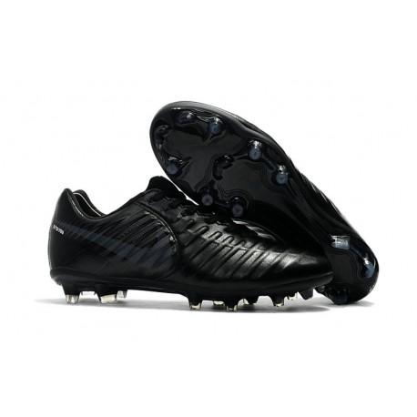 Scarpe da Calcio FG Nuovo Nike Tiempo Legend VII FG Calcio ACC Tutto Nero 9f5d68