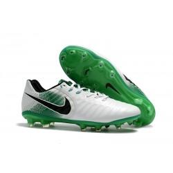 Scarpe da Calcio Nuovo Nike Tiempo Legend VII FG ACC - Bianco Verde