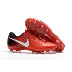 Nike Scarpa da Calcetto Tiempo Legend 7 FG Uomo - Rosso Bianco