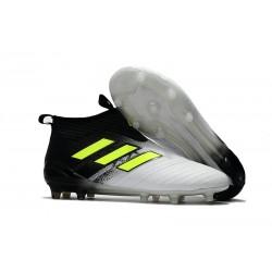 Scarpe da Calcio Adidas ACE 17+ Pure Control FG Uomo - Bianco Nero Giallo