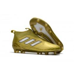 Adidas Nuovo Scarpa da Calcio ACE 17+ Pure Control FG - Oro Bianco