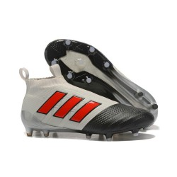Adidas Nuovo Scarpa da Calcio ACE 17+ Pure Control FG - Grigio Nero Rosso