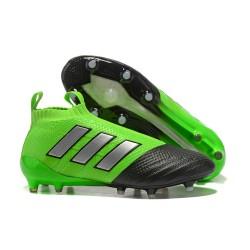 Adidas Nuovo Scarpa da Calcio ACE 17+ Pure Control FG - Verde Metallico Nero