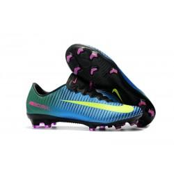 Nuove Scarpe da Calcio Nike Mercurial Vapor XI FG ACC Blu Giallo
