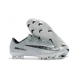 Cristiano Ronaldo Scarpe da Calcio Nike Mercurial Vapor XI CR7 FG ACC Bianco Nero
