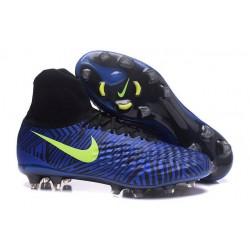 Nuove Scarpe da Calcio Nike Magista Obra II FG ACC - Blu Giallo