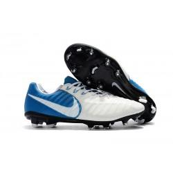 Nike Scarpa da Calcetto Tiempo Legend 7 FG Uomo - Bianco Blu