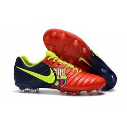 Nike Tiempo Legend VII FG Scarpe da Calcio - Barcelona Rosso