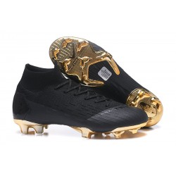 Nike Scarpa da Calcio Mercurial Superfly VI 360 Elite FG - Nero Oro