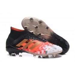 Scarpe da Calcio adidas Predator Telstar 18.1 FG Nero Rosso Oro