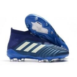 adidas Scarpe da Calcio Predator 18+ FG - Blu Bianco