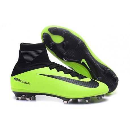 Nike Mercurial Superfly V Fg Scarpe da Calcio Uomo - Verde Nero 62fb4b08695e