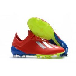 adidas Scarpe da Calcio X 18.1 FG - Rosso Argento