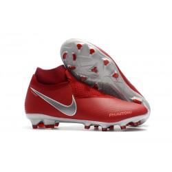 Scarpe da calcio Nike Phantom Vision Elite DF FG - Rosso Argento