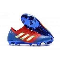 adidas Nemeziz 18.1 FG Coppa del Mondo Scarpe - Rosso Blu Argento