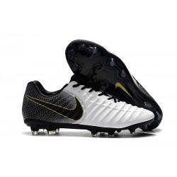 Nike Scarpe da Calcio Tiempo Legend VII Elite FG - Bianca Nero Oro