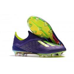 Scarpe Calcio Adidas X 18+ FG - Viola Verde