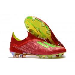 Scarpe Calcio Adidas X 18+ FG - Rosso Verde