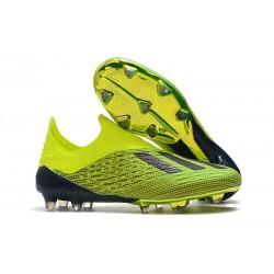 Scarpe Calcio Adidas X 18+ FG - Verde Nero