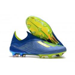 Scarpe Calcio Adidas X 18+ FG - Blu Verde