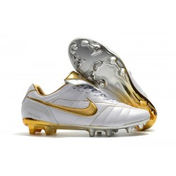 Nike Scarpe da Calcio Tiempo Legend VII R10 Elite FG - Bianco Oro