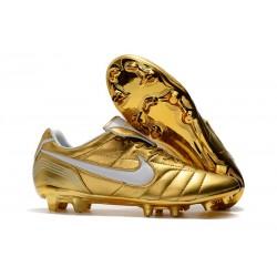 Nike Scarpe da Calcio Tiempo Legend VII Elite FG - Oro Bianco