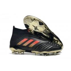 adidas Predator 18+ FG Uomo Scarpa da Calcio - Nero Rosso