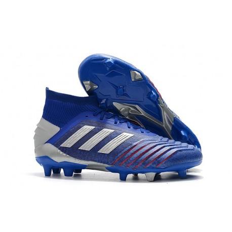 Scarpe da Calcio adidas Predator 19.1 FG - Blu Argento