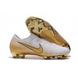 Nike Mercurial Vapor 12 Elite FG Scarpe da Calcio - Bianco Oro