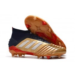 Scarpe da Calcio adidas Predator 19.1 FG - Oro Argento Rosso