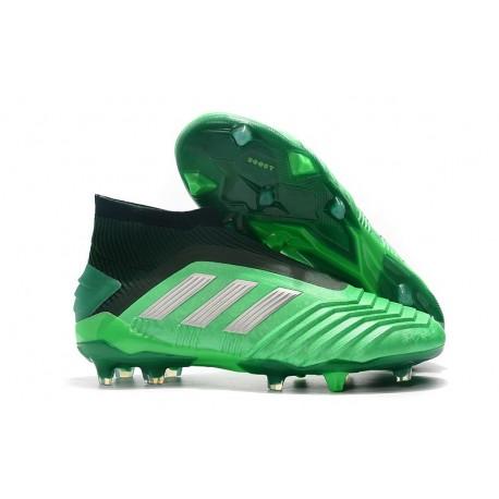 Nuovo Scarpa adidas Predator 19+ FG - Verde Nero