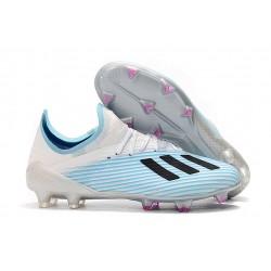 Scarpa da Calcio Nuovo adidas X 19.1 FG Bianco Blu Nero