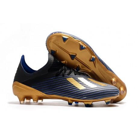 Scarpa da Calcio Nuovo adidas X 19.1 FG Blu Nero Oro