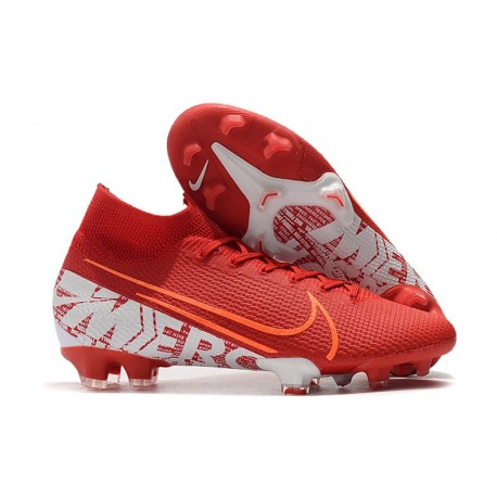 Nike Mercurial Superfly VII Elite FG Scarpa - Rosso Bianco