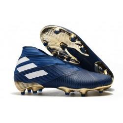 adidas Scarpe da Calcetto Nemeziz 19+ FG - Blu Bianco Nero