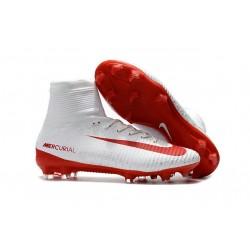 Nike Mercurial Superfly 5 DF FG ACC Scarpe da Calcio - Bianco Rosso