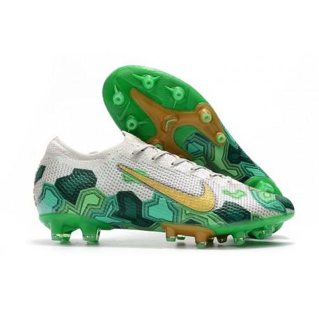Nike Mercurial Vapor 13 Elite AG-Pro Mbappe Grigio Vast Oro Verde