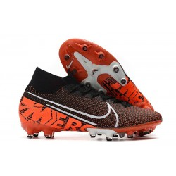 Nike Mercurial Superfly VII Elite AG-Pro Nero Bianco Cremisi Hyper