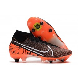 Nike Mercurial Superfly 7 Elite SG Pro AC Nero Bianco Cremisi Hyper